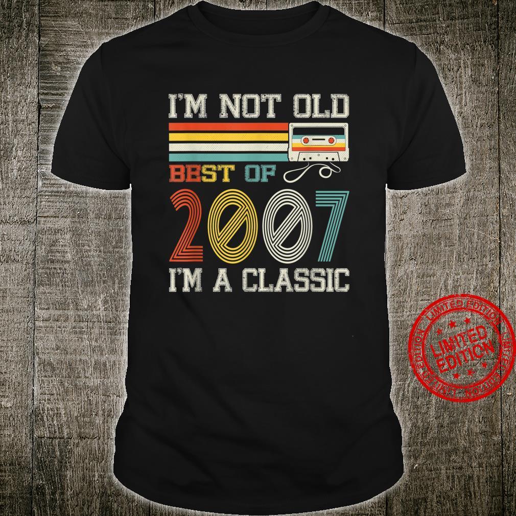 Best Of 2007 13th Birthday Cassette Tape Vintage Shirt