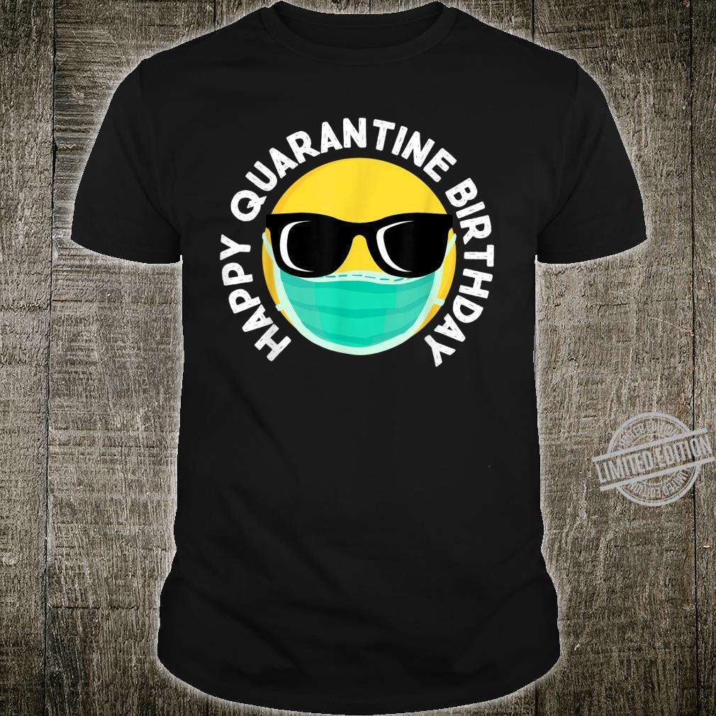 Happy Quarantine Birthday Social Distancing emoji Shirt