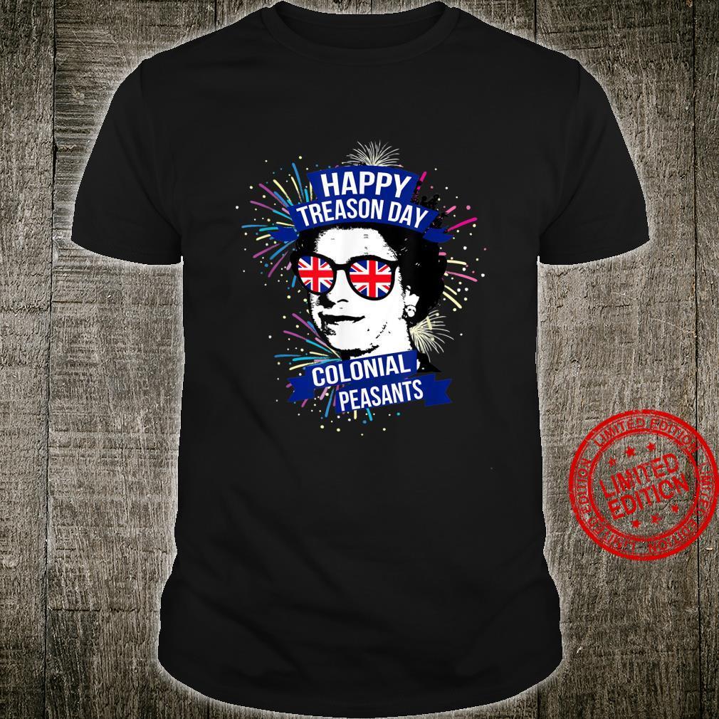 Happy Treason Day Colonial Peasants Elizabeth II Shirt