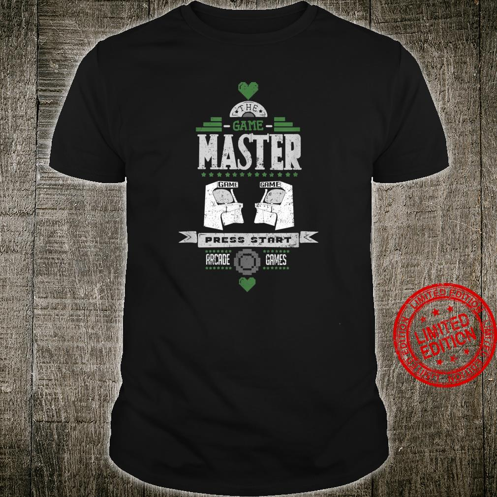Master Press Start Cool Retro Arcade Video Games Player Shirt