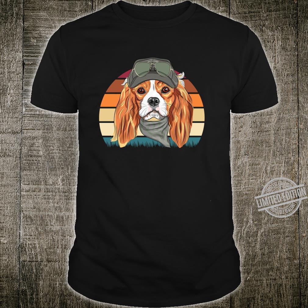 Retro Spaniel Geschenk Hunde Langarmshirt Shirt
