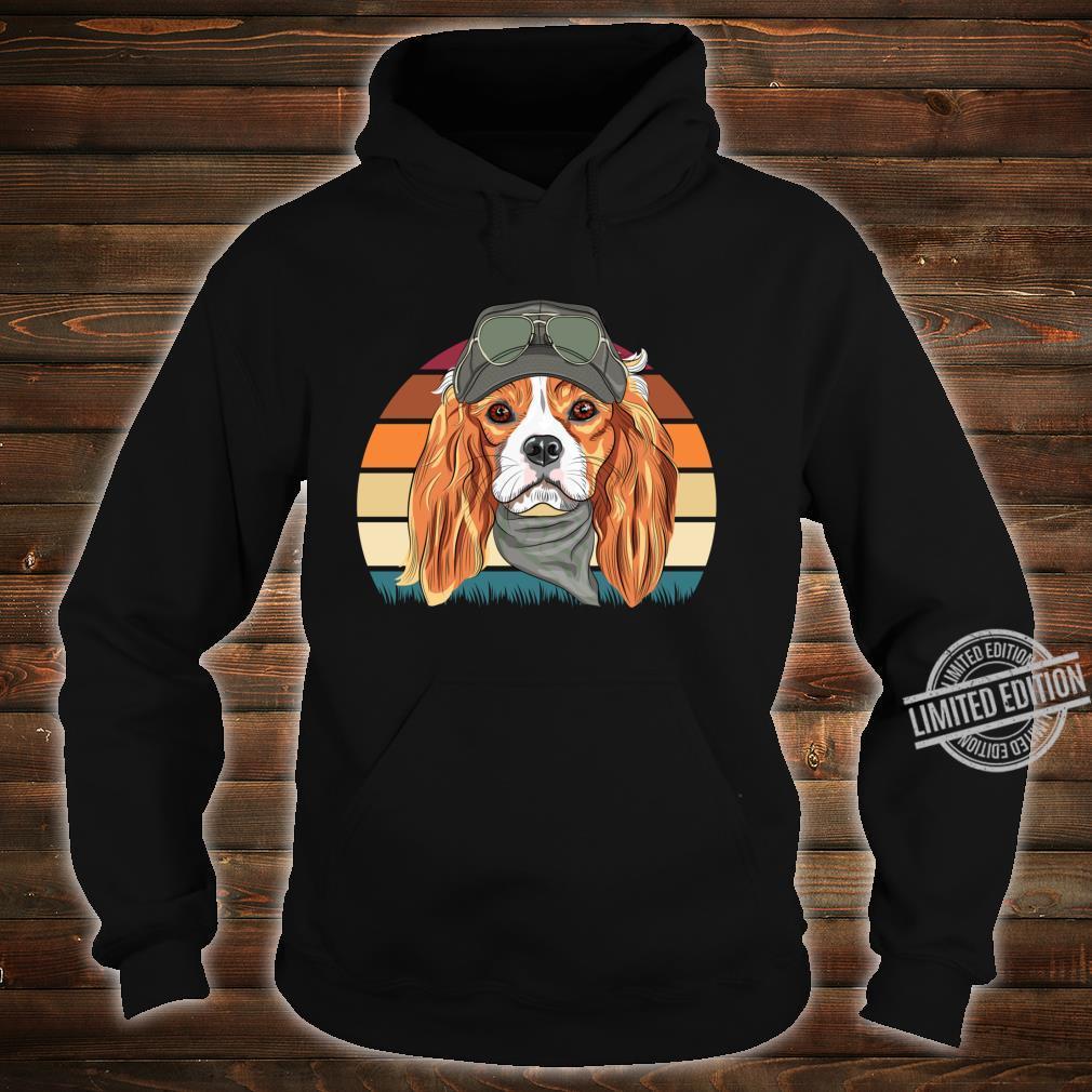 Retro Spaniel Geschenk Hunde Langarmshirt Shirt hoodie
