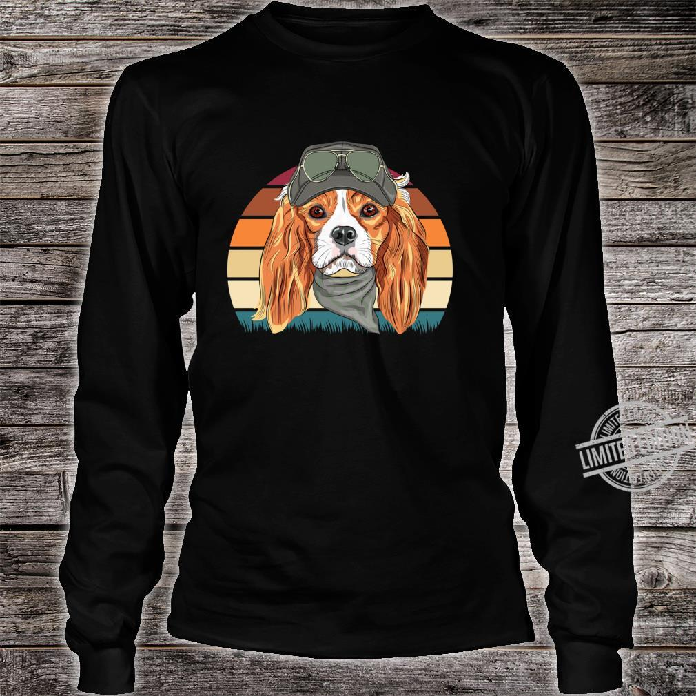 Retro Spaniel Geschenk Hunde Langarmshirt Shirt long sleeved