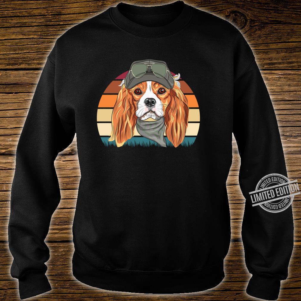 Retro Spaniel Geschenk Hunde Langarmshirt Shirt sweater