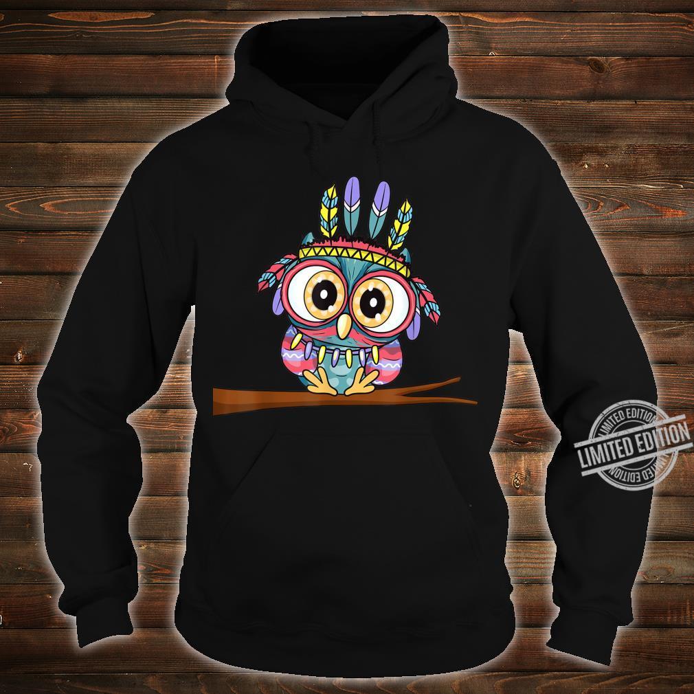 Süße Eule mit Federschmuck und großen Augen Niedliches Eulen Shirt hoodie