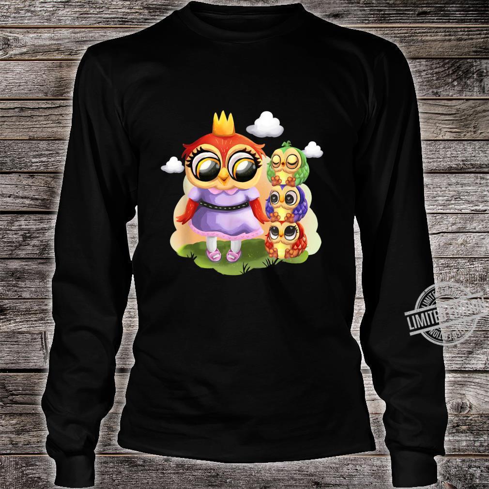 Süße Eulen Familie Mutter Und Tochter Partnerlook Fun Eulen Shirt long sleeved