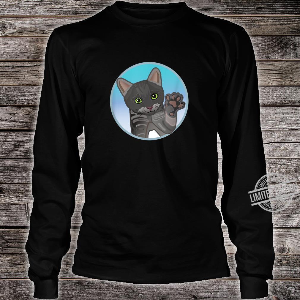 Süße grau schwarze Katze, Geschenk Shirt long sleeved