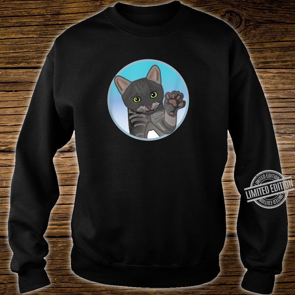 Süße grau schwarze Katze, Geschenk Shirt sweater