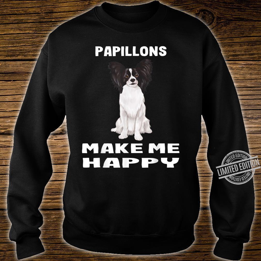 Süsses Papillon Zwergspaniel Macht Mich Glücklich Shirt sweater