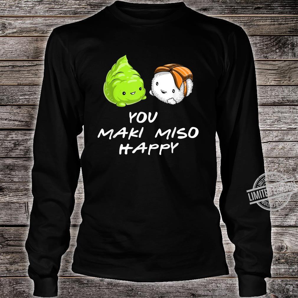 Sushi You Maki Miso Happy Kawaii Japan Shirt long sleeved