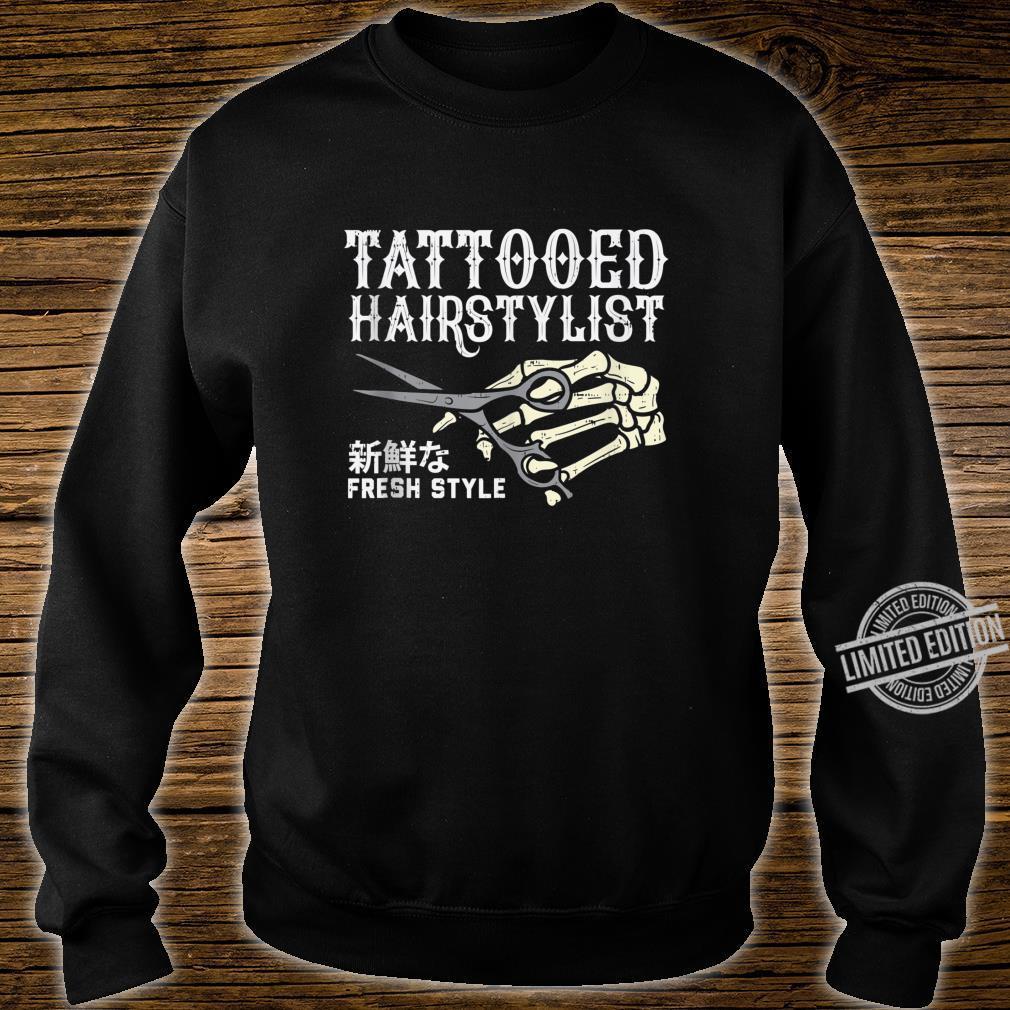 Tattooed Hair Stylist Skeleton Hand Hairdresser Barber Shirt sweater