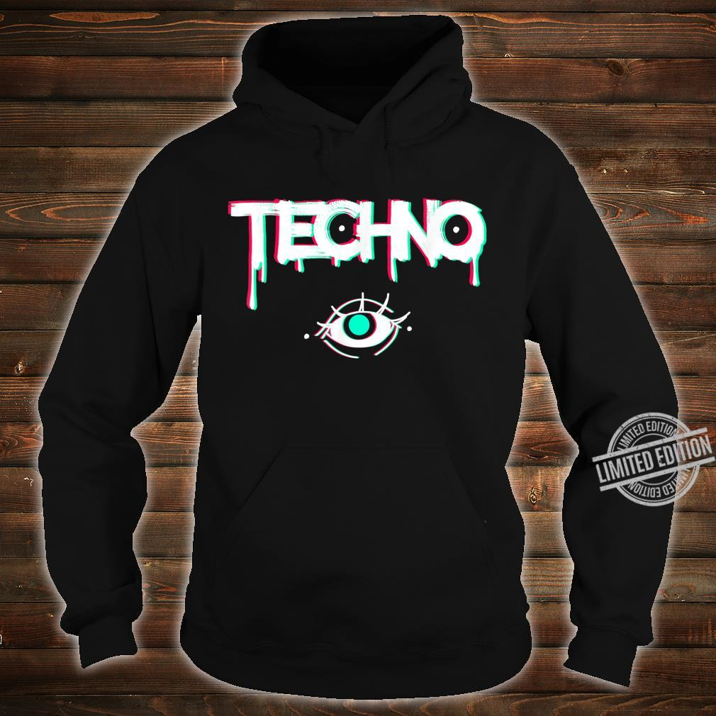 Techno Rave Eye Print for 90s Electro House Music Party Shirt hoodie