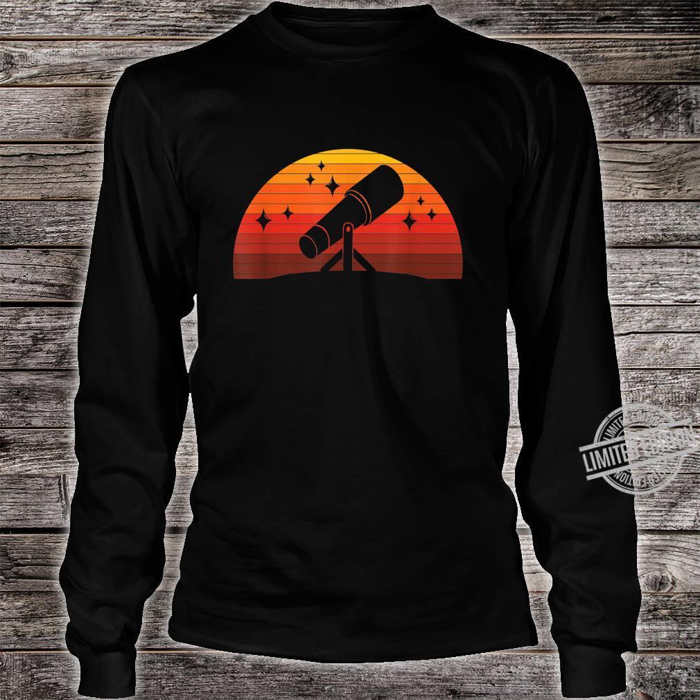 Telescope Astronomer Astrophysics Idea Astronomy Shirt long sleeved