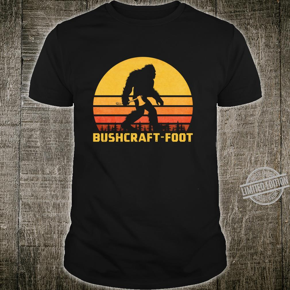 Vintage Bigfoot Bushcraft Crytpid Sasquatch Bushcrafting Shirt