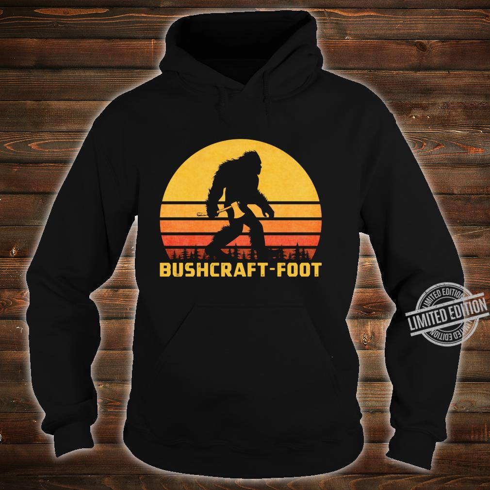 Vintage Bigfoot Bushcraft Crytpid Sasquatch Bushcrafting Shirt hoodie