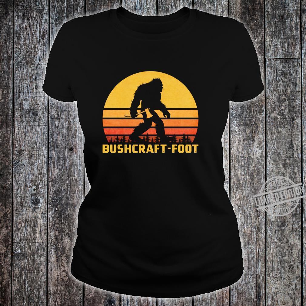 Vintage Bigfoot Bushcraft Crytpid Sasquatch Bushcrafting Shirt ladies tee