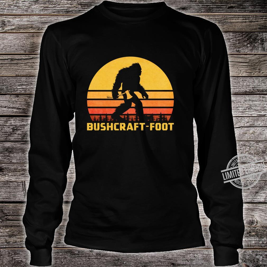 Vintage Bigfoot Bushcraft Crytpid Sasquatch Bushcrafting Shirt long sleeved