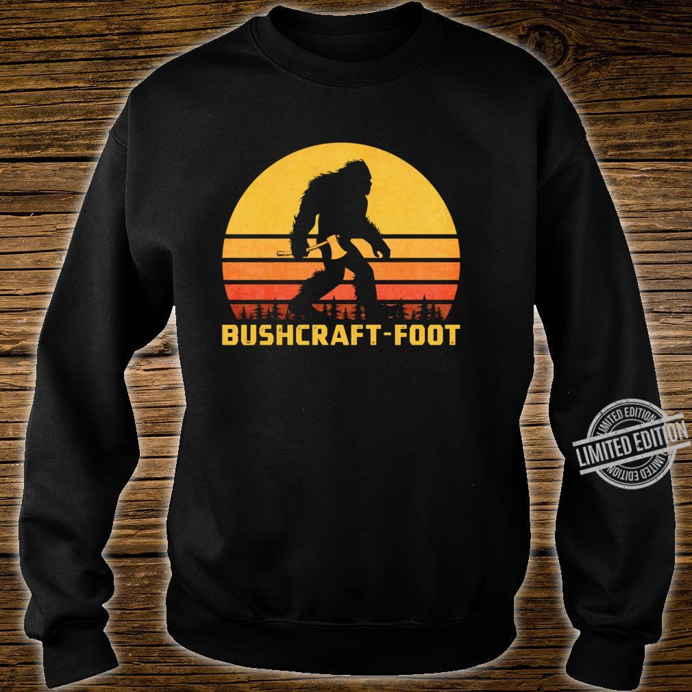 Vintage Bigfoot Bushcraft Crytpid Sasquatch Bushcrafting Shirt sweater